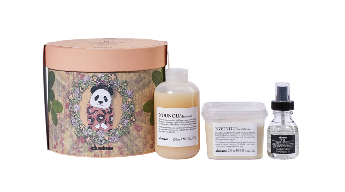 Davines 'Wishing You Nourishing Moments' Christmas 2017 gift box - available at Lounge Hair Boutique - Unisex hairdressers in Ashford, Kent